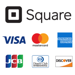VISA,MASTER CARD,AMERICAN EXPRESS,JCB, Diners Club INTERNATIONAL, DISCOVR 各種クレジットカード支払いにい対応